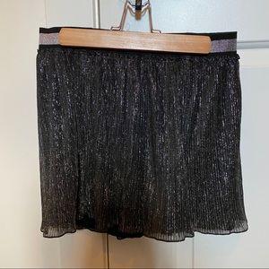 Just Cavalli Black Shimmer Dress Shorts Size 40